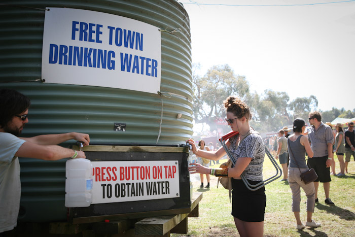 Drinking Water Meredith Music Festival 2011
